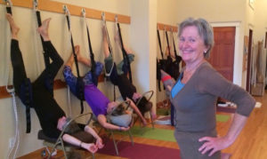 Ingelise teaching a workshop at yoga on 7th