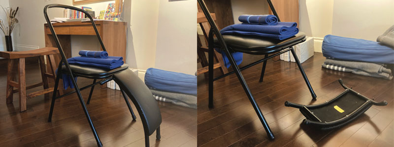 Chair with backbending attachement