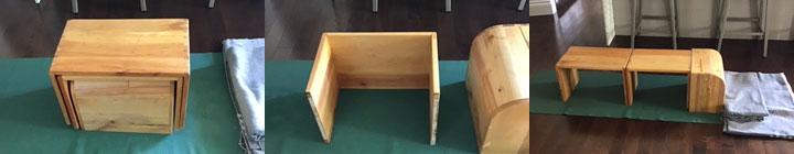 Stackable setu bandha bench